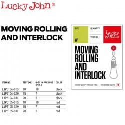 Lucky John Vartej Culisant cu Agrafa Interlock