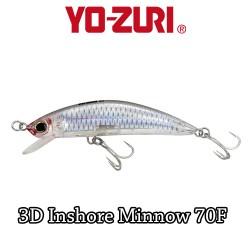 YO-ZURI 3D INSHORE MINNOW 7CM - 8GR /FLOATING