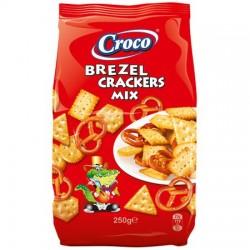 Croco mixt brezel & crackers 250gr *(12)