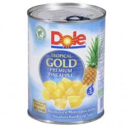 Ananas Dole cuburi 432gr *(6)