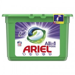 Detergent capsule Ariel All in One PODS Lavanda, 15 spalari