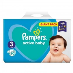 Scutece Pampers Active Baby Nr.3 (6-10kg) 90 bucati