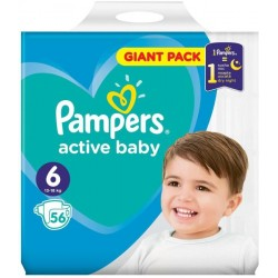Scutece Pampers Active Baby Nr. 6, 13-18 Kg, 56 bucati
