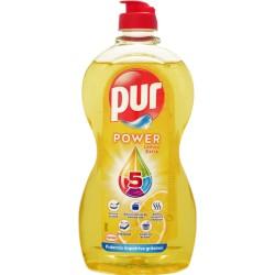 Detergent de vase Pur, 450ml - Lemon