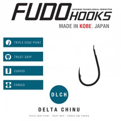 Carlige Fudo Delta Chinu, Black Nickel