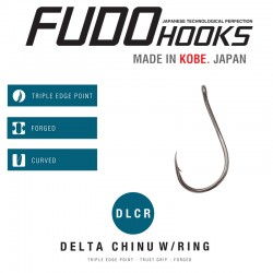 Carlig Fudo Delta Chinu W Ring, Black Nickel
