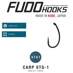 Carlige Fudo Carp STG1 , Black Nickel