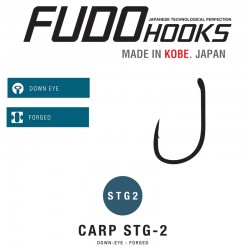Carlige Fudo Carp STG2 , Black Nickel