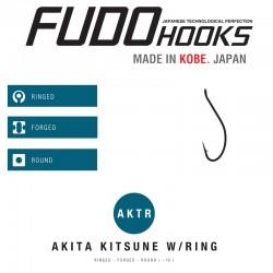 Carlige Fudo Akita Kitsune Ring , Black Nickel
