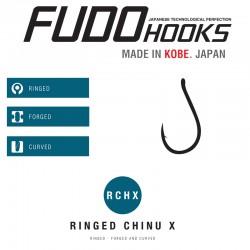Carlige Fudo Ringed Chinu X , Black Nickel