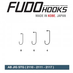 Carlige Fudo AB JIG STG (BULK) , Black Nickel