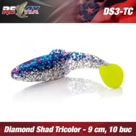 Diamond Shad 7,5 CM TriColour