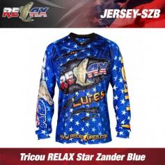 Tricou RELAX Star Zander Blue