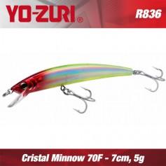 YO-ZURI CRYSTAL MINNOW 7CM - 5GR / FLOATING