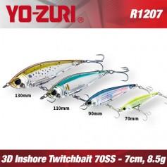 YO-ZURI 3D INSHORE TWITCHBAIT 7CM - 8,5GR /SLOW SINKING