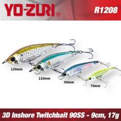 YO-ZURI 3D INSHORE TWITCHBAIT 9CM - 17GR /  SLOW SINKING