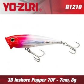 YO-ZURI 3D INSHORE POPPER 7CM - 8GR /FLOATING