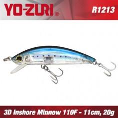 YO-ZURI 3D INSHORE MINNOW 11CM - 20GR /FLOATING