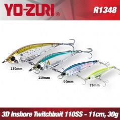 YO-ZURI 3D INSHORE TWITCHBAIT 11CM - 30GR /  SLOW SINKING