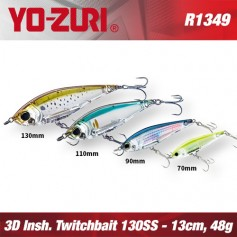 YO-ZURI 3D INSHORE TWITCHBAIT 13CM - 48GR /  SLOW SINKING