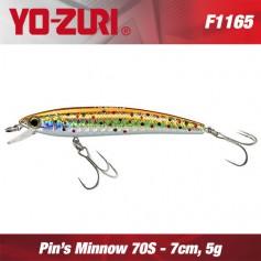 YO-ZURI PIN'S MINNOW 7 CM SINKING (NEW SERIES)