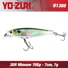 YO-ZURI 3DR MINNOW 7CM - 7GR / SUSPENDING