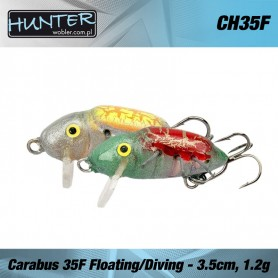 HUNTER CARABUS VOBLER 35MM 1.7GR/FLOATING - DIVING