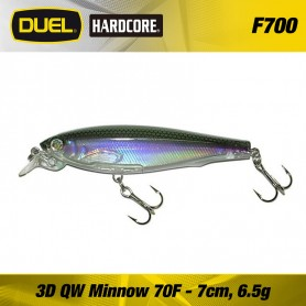 DUEL 3D QUIET WAVE MINNOW 7 CM F