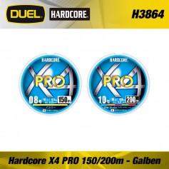 Fir Textil Hardcore X4 PRO 150/200m Yellow