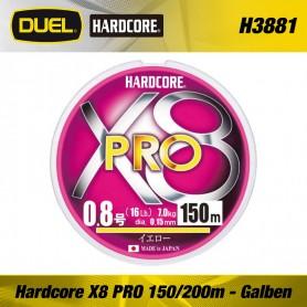 Fir Textil Hardcore X8 PRO 150/200m Yellow