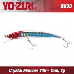 YO-ZURI CRYSTAL MINNOW 7cm SINKING