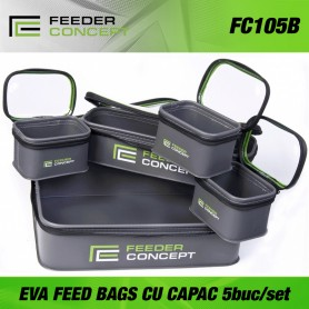 FEEDER CONCEPT CU CAPAC EVA FEED BAGS 5PCS. SET