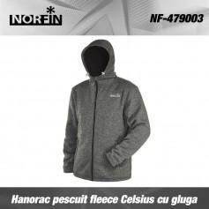Hanorac Pescuit Fleece Norfin Celsius Cu Gluga