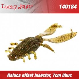 Naluca offset Insector, 7cm 8buc/plic, Lucky John