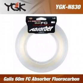 YGK Galis 60lb 60m FC Absorber Fluorocarbon