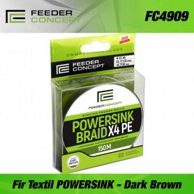 Fir Textil Feeder Concept braided line POWERSINK Dark Brown