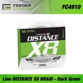 Fir textil Feeder Concept line DISTANCE x8 BRAID Dark Green