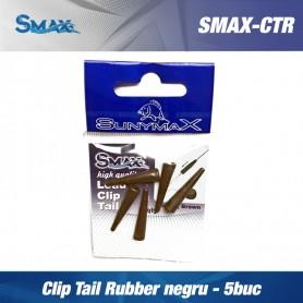 SMAX Clip Tail Rubber negru -  5buc/pac