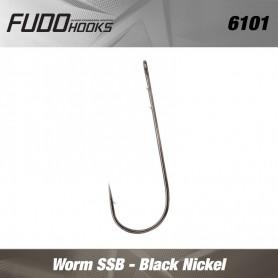 Carlige Fudo Worm SSB , Black Nickel