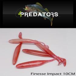 4PREDATORS Finesse Impact 10 CM Floating (5buc/plic)